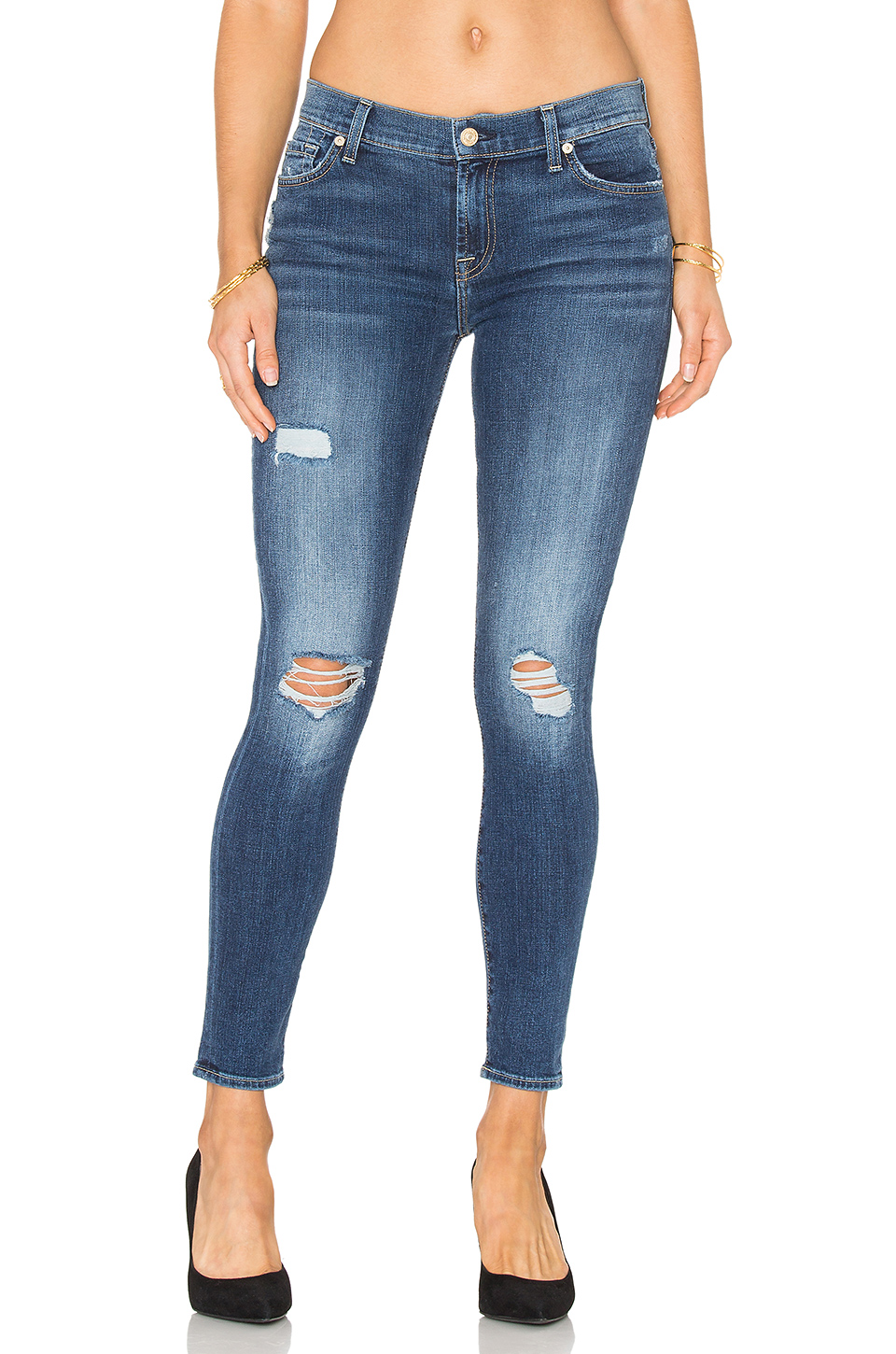 Distressed Ankle Skinny Jean Pantolon