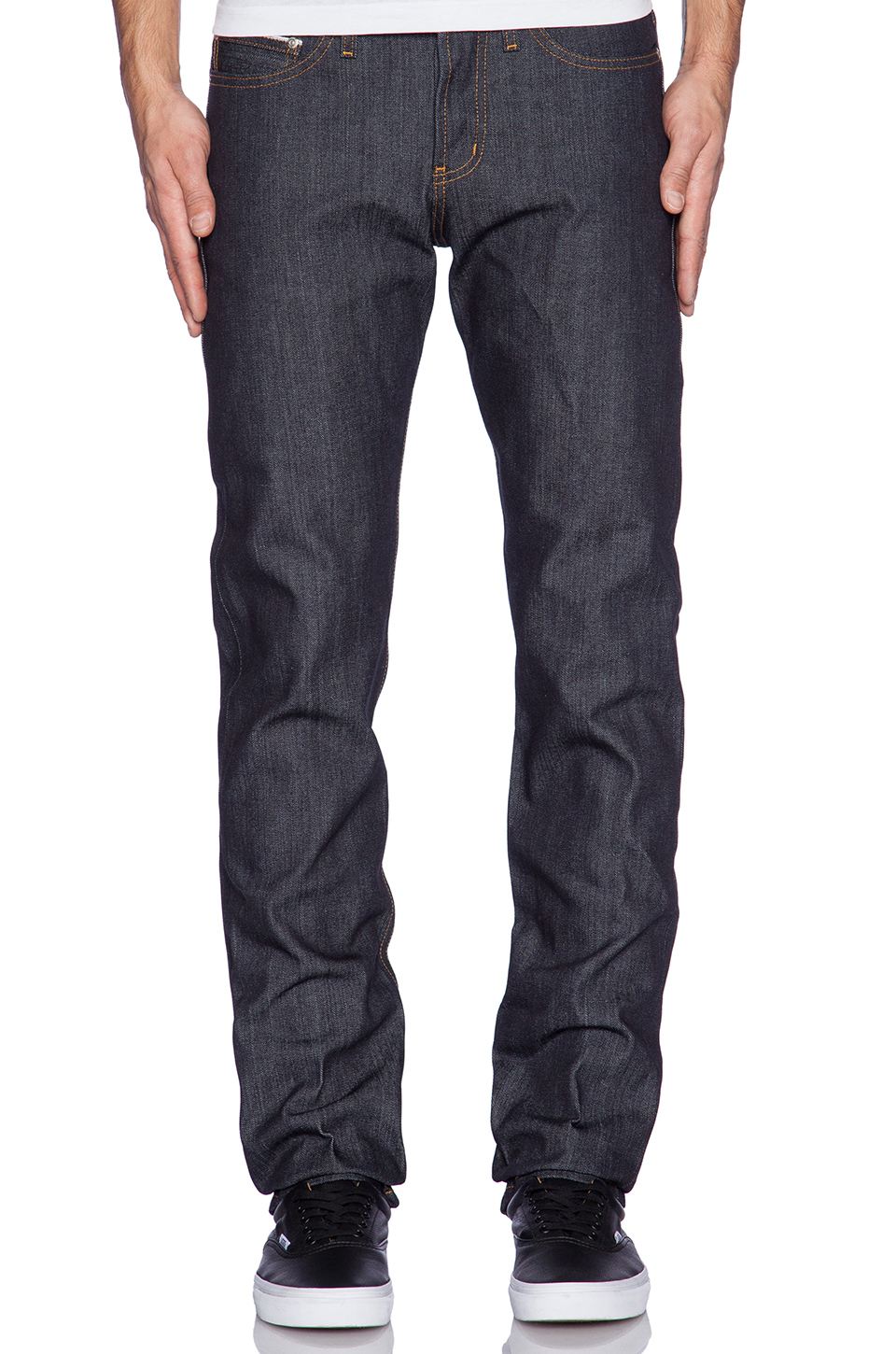 Naked & Famous Denim Lacivert Weird Guy Jean Pantolon